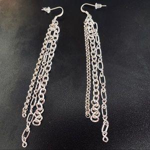 Jewelry - Handmade silver chain earrings 1/$15 or 2/$20